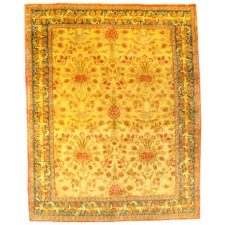 Pasargad N Y Savonnerie Style Canary Yellow Rug - 8′ × 10′ For Sale