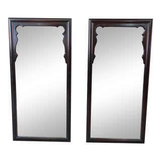 Mid-Century Chinoiserie Lacquered Mirrors by Century Furniture - a Pair For Sale