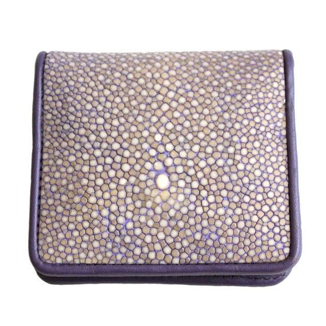 Lavender Shagreen Coin Purse For Sale - Image 4 of 4