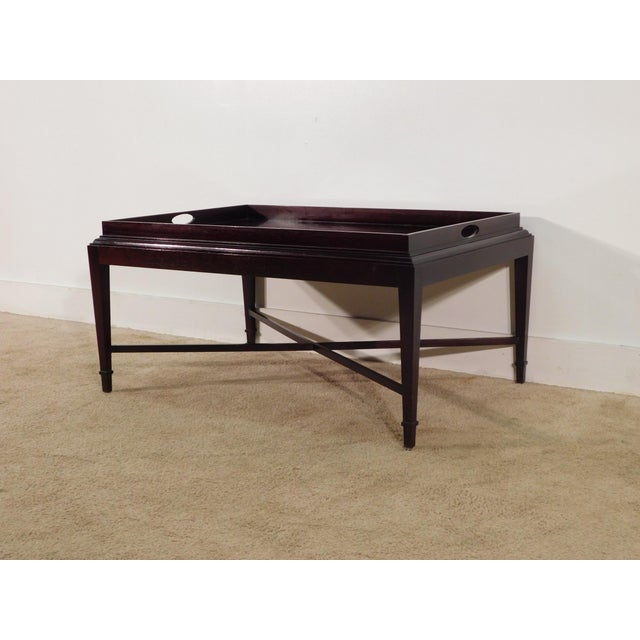 2000 - 2009 Barbara Barry for Baker Furniture Company Java Finish Coffee Table For Sale - Image 5 of 10