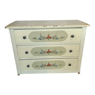 1960s Vintage Hand Painted 3-Drawer Chest For Sale