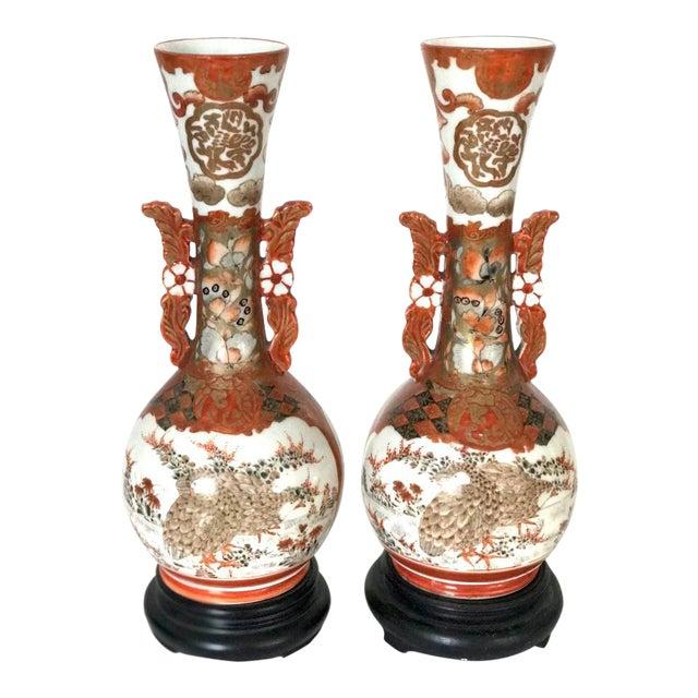 19th C Antique Japanese Kutani Vases A Pair Chairish