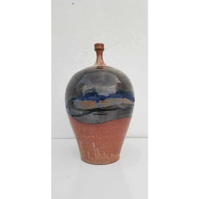Abstract 90s Bud Glazed Decorative Vase by Piterh For Sale - Image 3 of 10