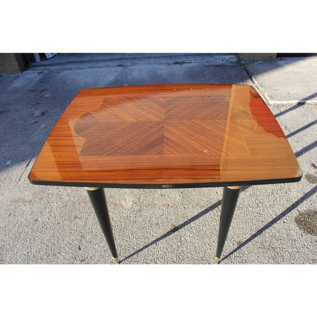 1940s Art Deco Exotic Macassar Ebony Game Table For Sale - Image 4 of 13