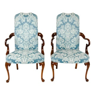 Antique Mahogany Framed Side Armchairs - A Pair For Sale