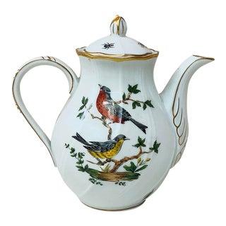 1950s Limoges Porcelain Teapot For Sale
