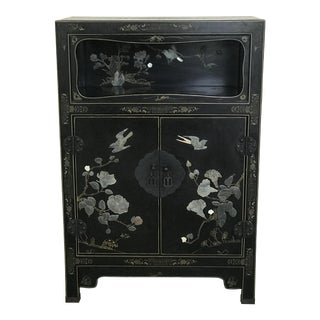 1980s Asian Black Cabinet For Sale
