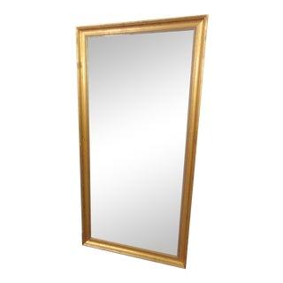 Gold Gilt Concave Molded Frame Dressing Mirror For Sale