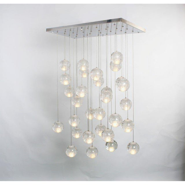Modern Meteor Shower Chandelier For Sale - Image 9 of 11