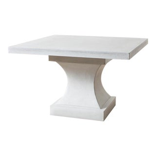 Cast Stone Edgewood Dining Table With Pedestal and Top For Sale