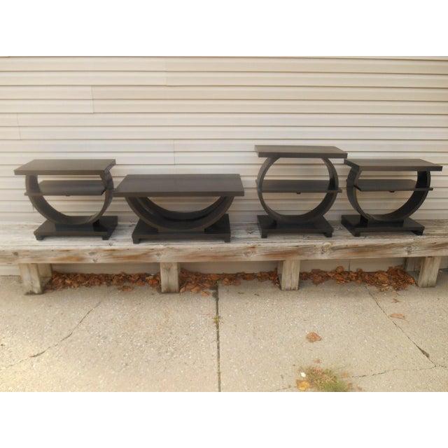 Vintage Brown Saltman Side Tables / End Tables - Set of 2 - Image 2 of 7