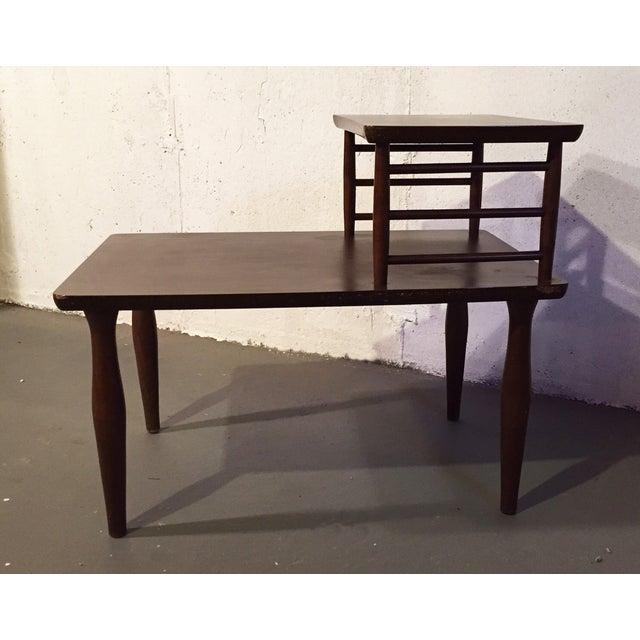 Danish Modern Vintage Viko Baumritter Step Table - Image 7 of 7