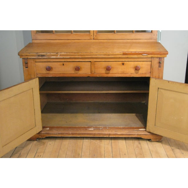 Country Antique 19th Century Pine Secretary Bookcase Desk For Sale - Image 3 of 8