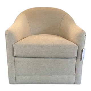Upholstered Swivel Tub Chair For Sale