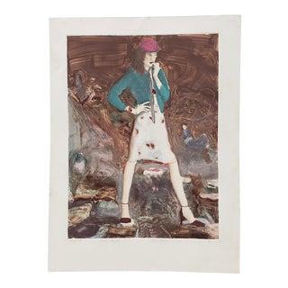 "Don Dolan ""Rosie Afraid"" Monoprint C.1980 For Sale"