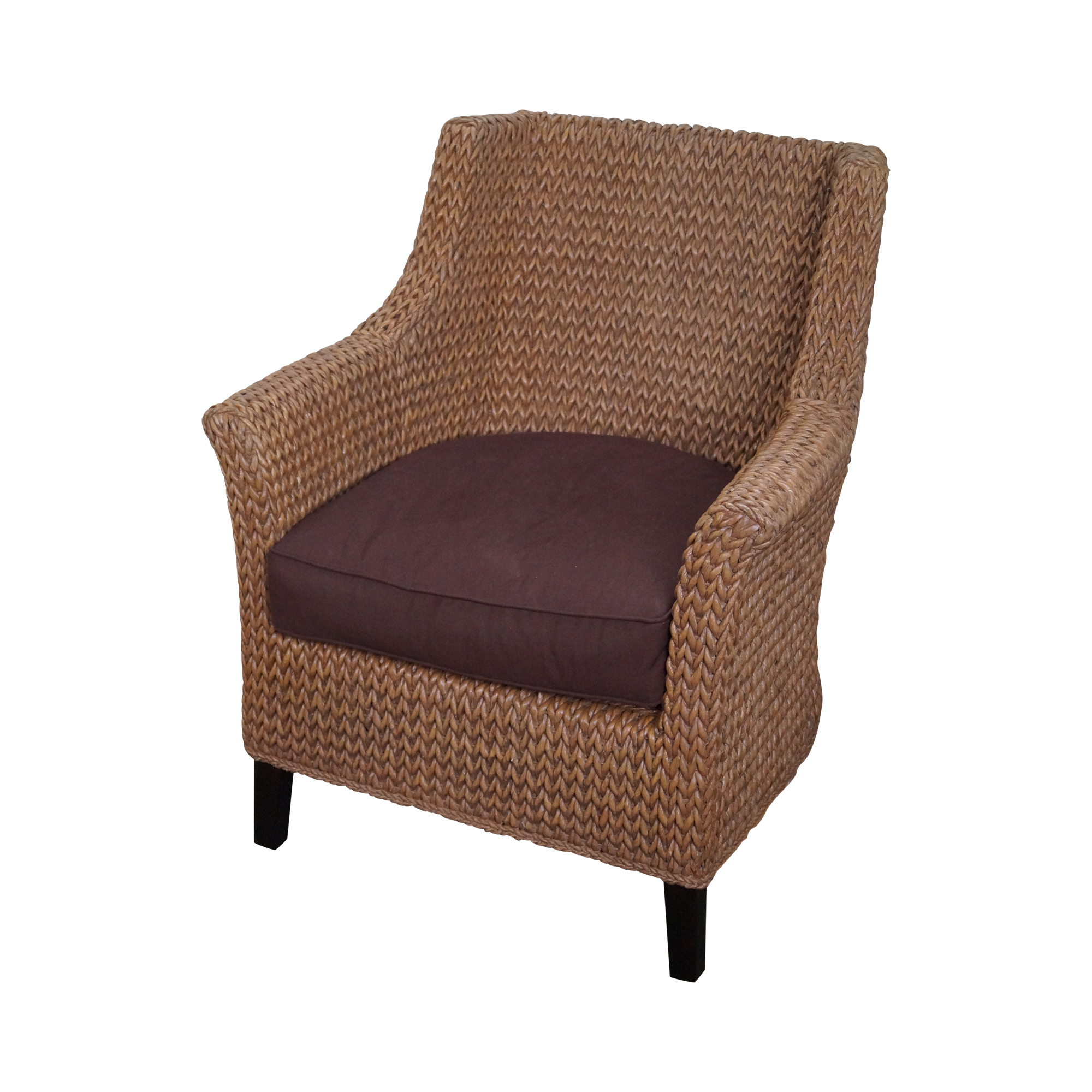 Pottery Barn Seagrass Woven Rope Wingback Chair