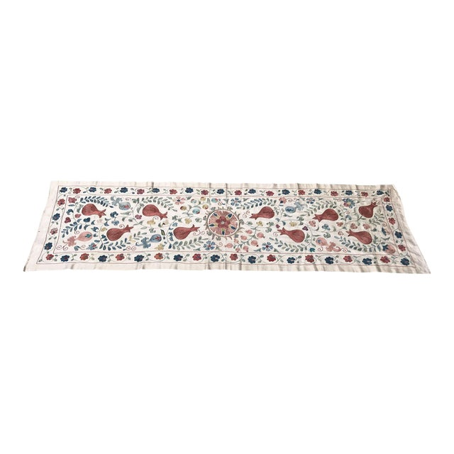 Vintage Pure Silk Suzani Table Runner - Image 1 of 6