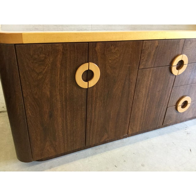 Wood Willy Rizzo Style Wood Credenza For Sale - Image 7 of 12