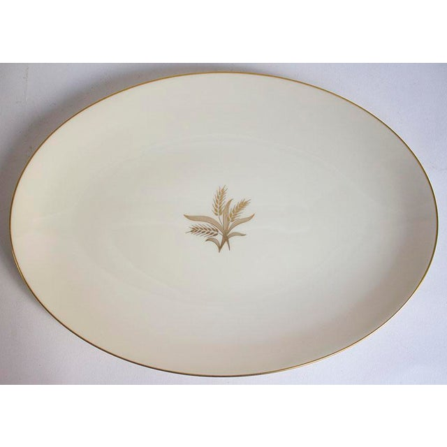 1950s Lenox China Wheat Pattern Platter For Sale In Las Vegas - Image 6 of 6