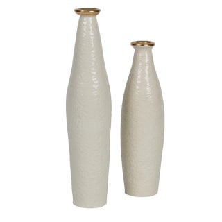 Textured Ceramic Bottles by Lanie Cecula For Sale