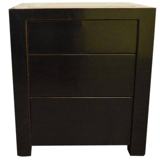 Unusual Chinese Bedside Cabinet with Inset Stone Top, 20th Century For Sale
