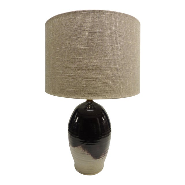 Vintage Art Pottery Lamp with Shade - Image 1 of 7