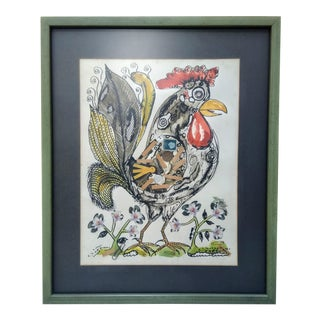 Untitled Rooster Mixed Media by Louis Toro For Sale