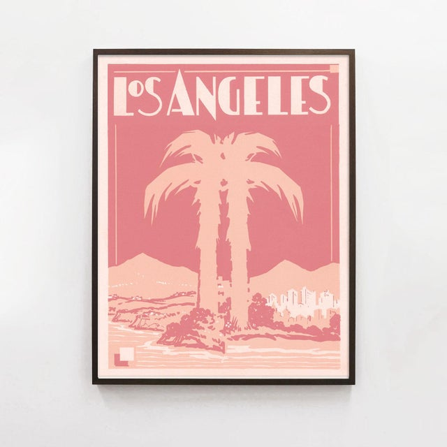 This stylish Deco print is designed from original source materials from a 1920s era travel brochure. Unframed print on...