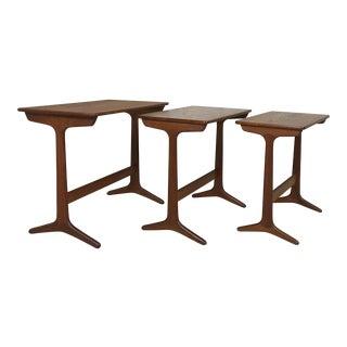 Heltborg Danish Modern Teak Nesting Tables For Sale