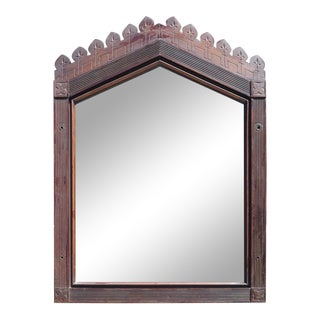Victorian Mahogany Framed Beveled Glass Mirror For Sale