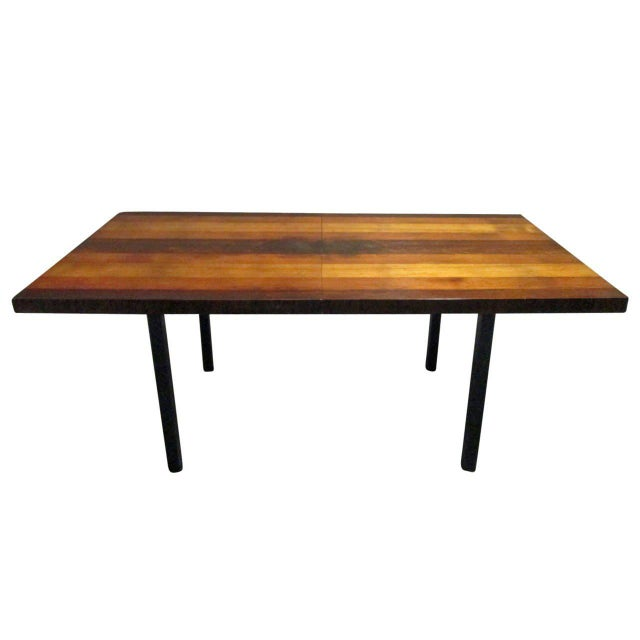 1960s Milo Baughman Dining Table for Directional With Two Extension Leaves For Sale - Image 5 of 5