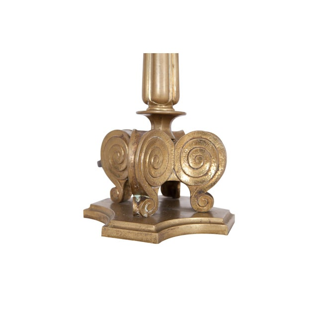 Gold Hollywood Regency Style Candelabra Table Lamps in Brass For Sale - Image 8 of 9