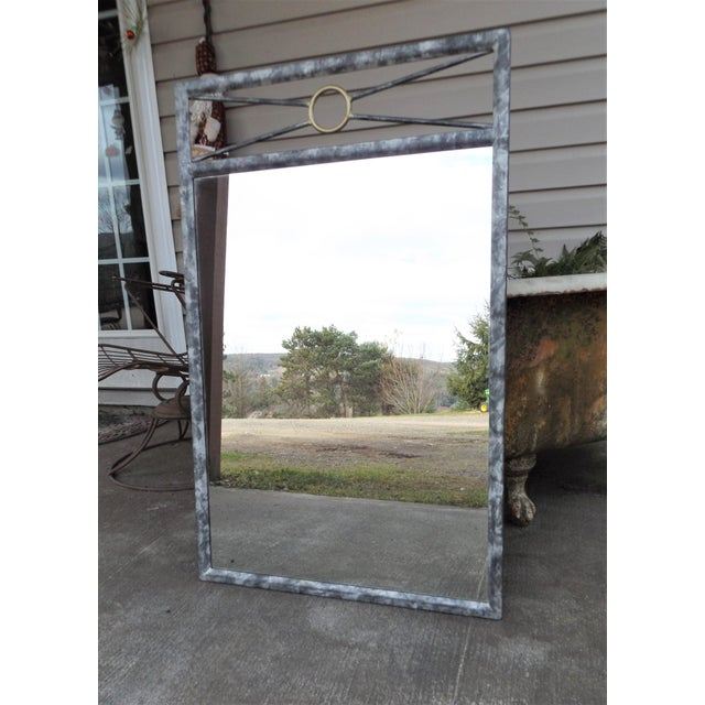 Metal Southwest Inspired Metal Framed Wall Mirror For Sale - Image 7 of 7
