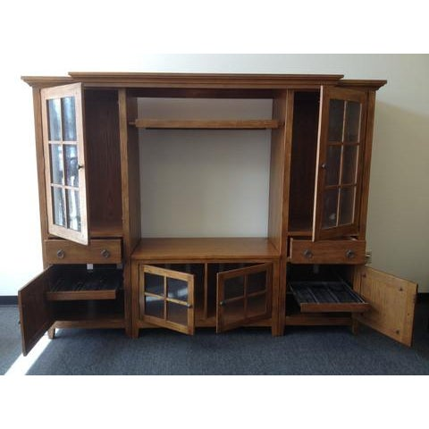 Solid Wood Entertainment Center - Image 3 of 7