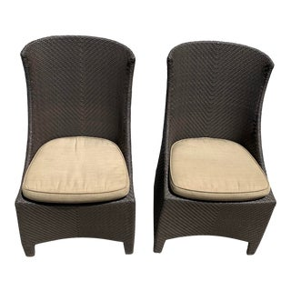 Woven Vinyl Side Chairs by Grange - A Pair For Sale