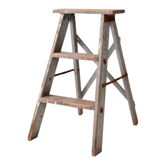 Vintage Wooden Step Ladder For Sale