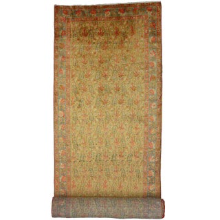 Antique Persian Mahal Carpet Runner, Long Persian Runner For Sale