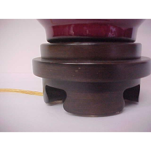 Frederick Cooper Oxblood Lamp For Sale - Image 5 of 8