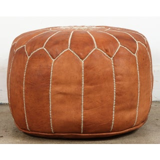 Late 20th Century Vintage Moroccan Handcrafted Leather Camel Ottoman Preview