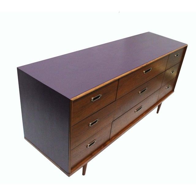 BP John Mid-Century 9-Drawer Dresser For Sale - Image 4 of 7