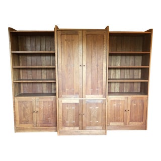 1900s Mission Style Stickley Cherry Wall Unit