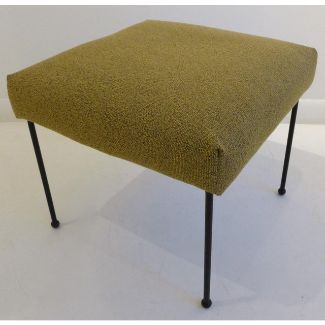 Fabric Lounge Chair with Ottoman by Adrian Pearsall For Sale - Image 7 of 8