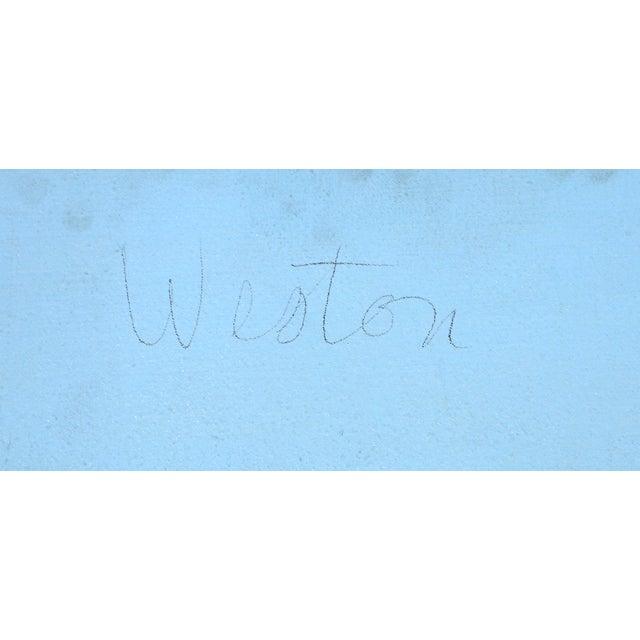 Richard Weston, Blue Composition Painting - Image 3 of 3