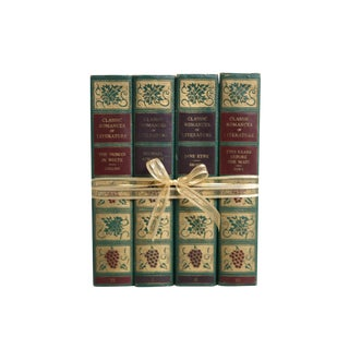 Vintage Decorative Book Gift Set: 1930's Green Classics For Sale