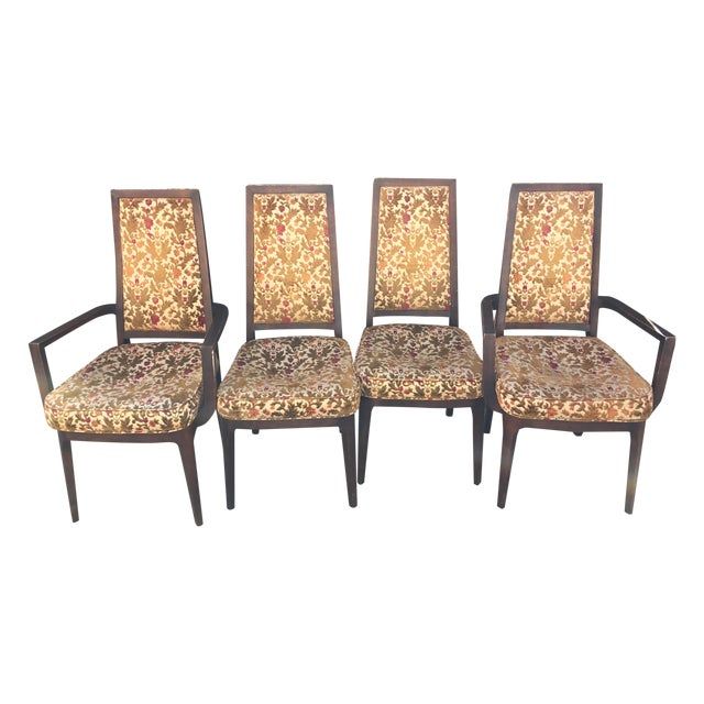 Wooden Frame Vintage Dining Chairs - Set of 4 - Image 1 of 8