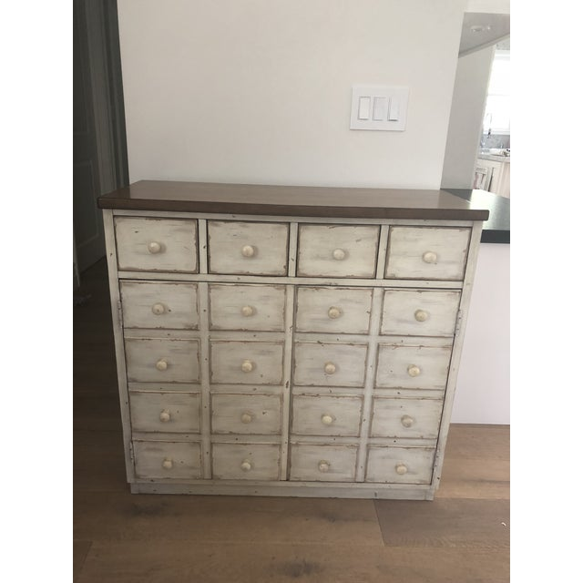 2010s Pottery Barn Shabby Chic Console Table With Drawers For Sale - Image 5 of 5