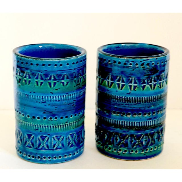 Italian 1970s Diminutive, Flavia Montelupo, Bistossi Vases - a Pair For Sale - Image 3 of 8