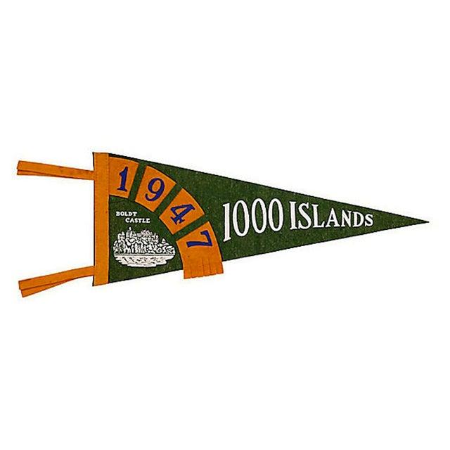 Vintage 1000 Islands Pennant, 1947 - Image 1 of 2