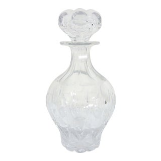 Antique Victorian Cut Glass English Decanter or Carafe For Sale