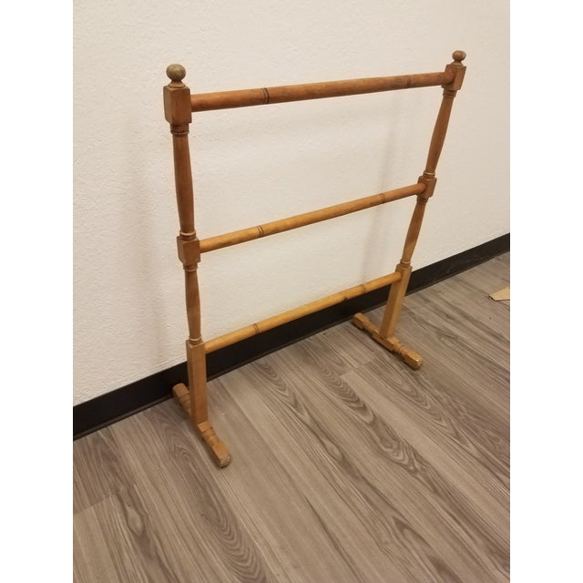 Antique English Pine Quilt or Towel Stand Even though this is an antique, it can be so useful today for hanging either...
